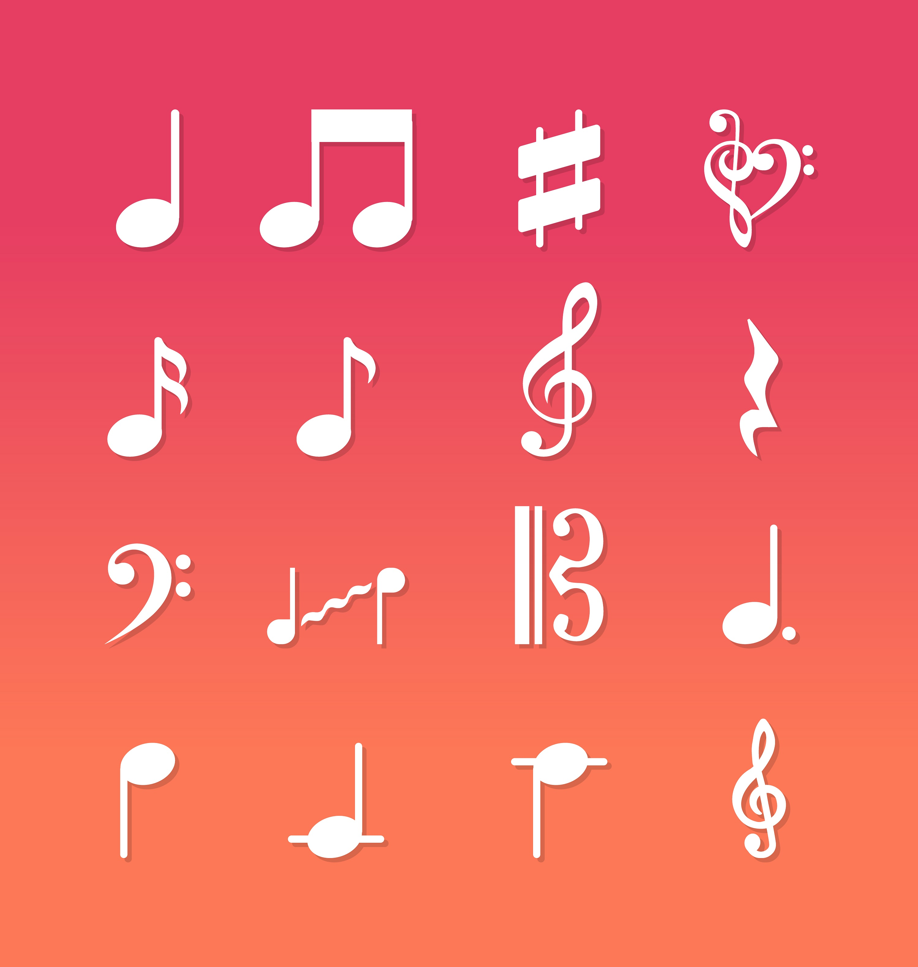 Music Notes Vector Free Download