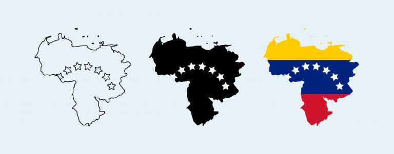 Venezuela Map Free Vector Art
