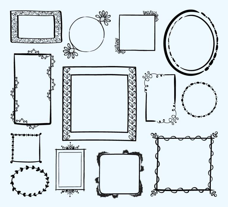 Hand Drawn Frame Free Vector Art