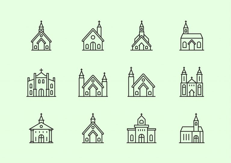 Church Icons Solid/Line Free Download