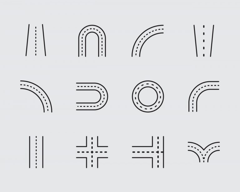 Road Icons Free Download