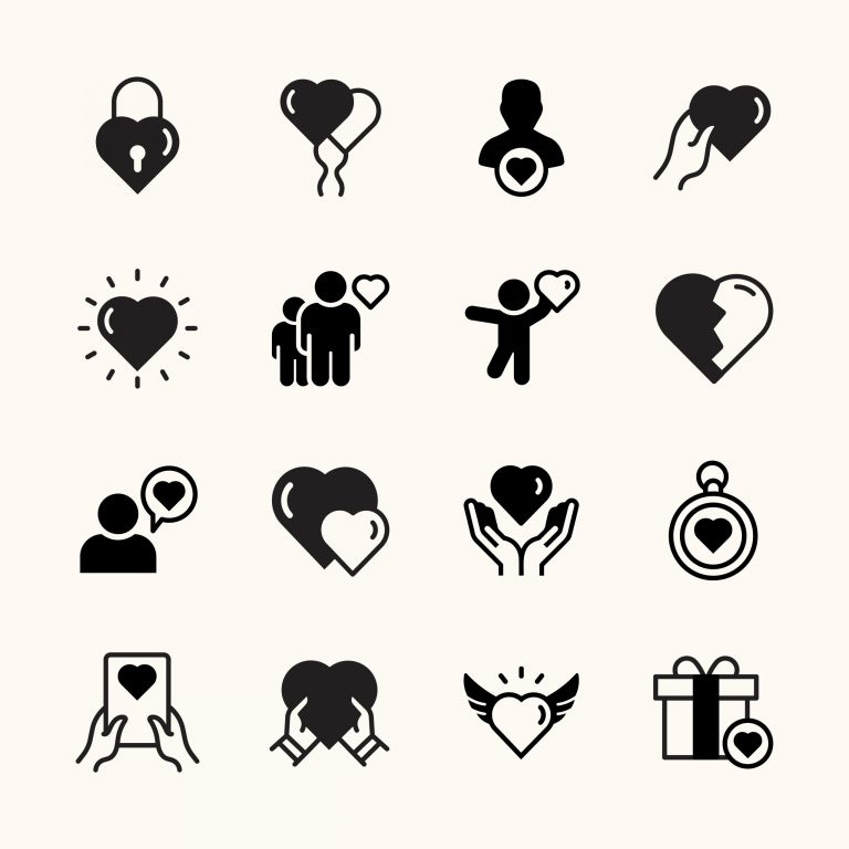 Friendship and Love Solid Icons Download