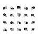 25 Chat Bubbles Vector Set