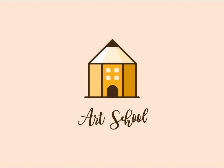 Creative Art School Vector Symbol