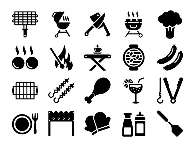 BBQ Grilling Icons