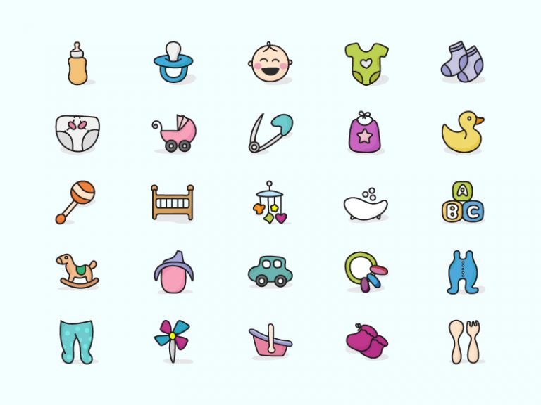 Baby Icons Doodles Image
