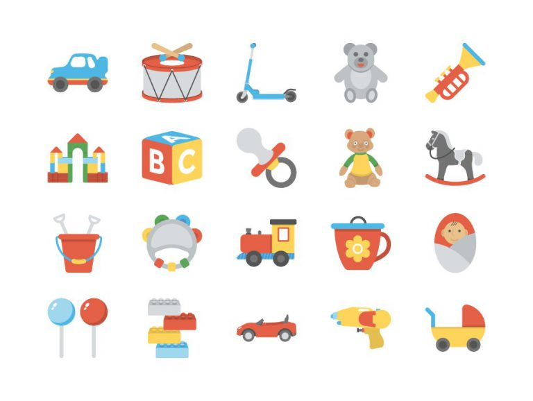 Baby and kids Icons