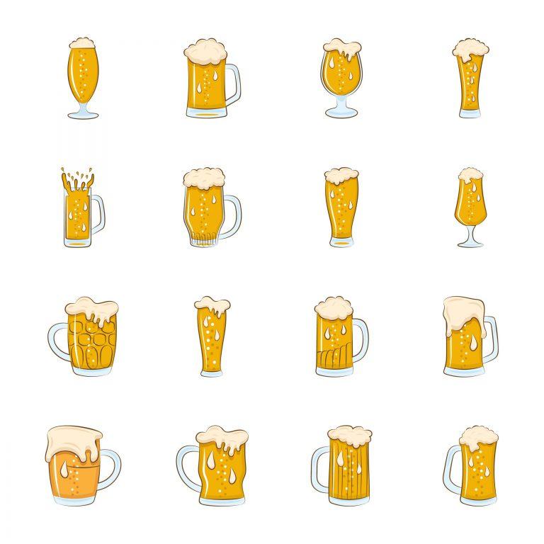 Set of Beer Glasses Free Download