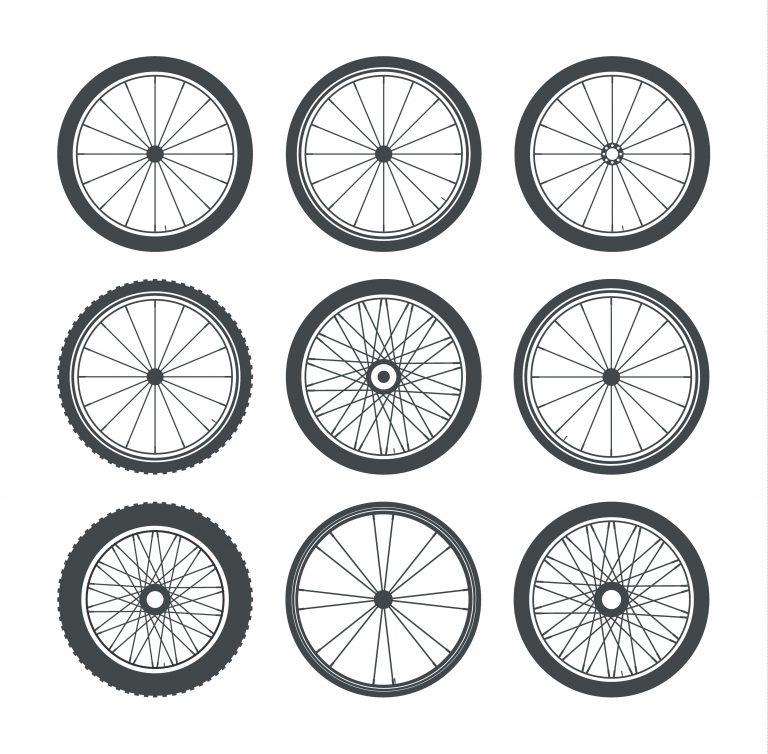 Bicycle Wheel Vectors Pack
