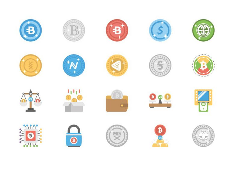Free Bitcoin and Cryptocurrency Icons