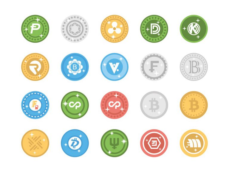 Bitcoin Digital Currency Icons