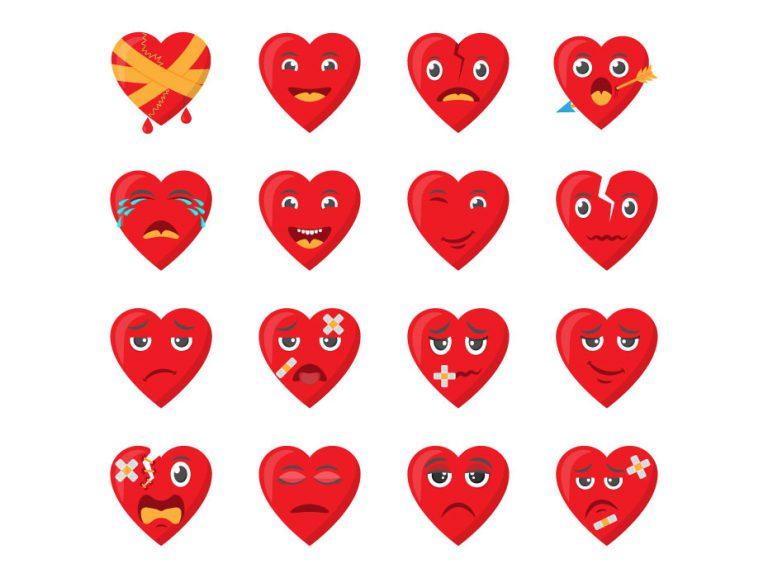 Broken Heart Cartoon Designs