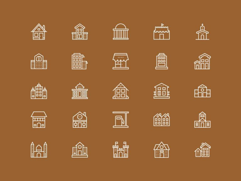 Building Line Icons