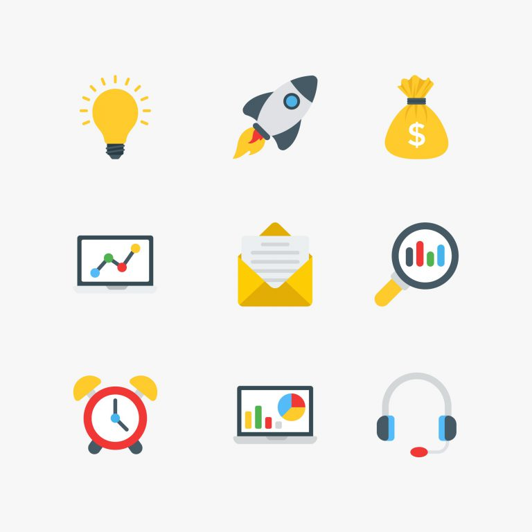 Business Icons Free Vector Art