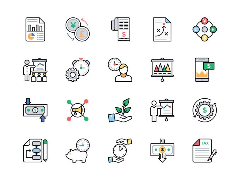 Business Outline Icons