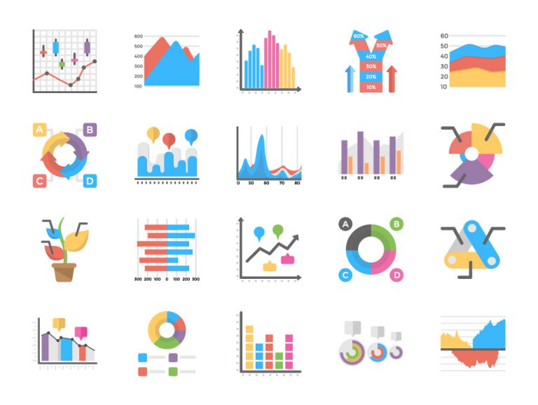 Business Graph Icons Pack