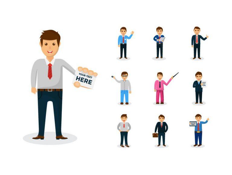 Businessmen Mascot