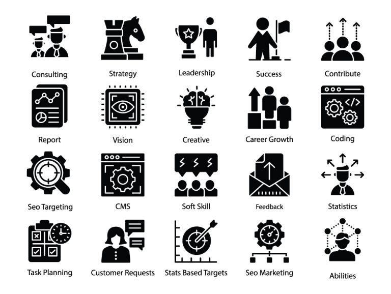Business Management Glyph Pack