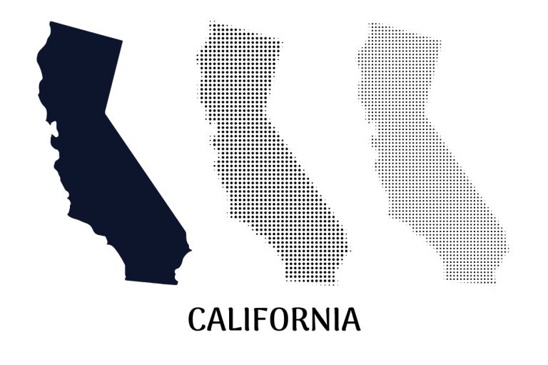 California Map Flag