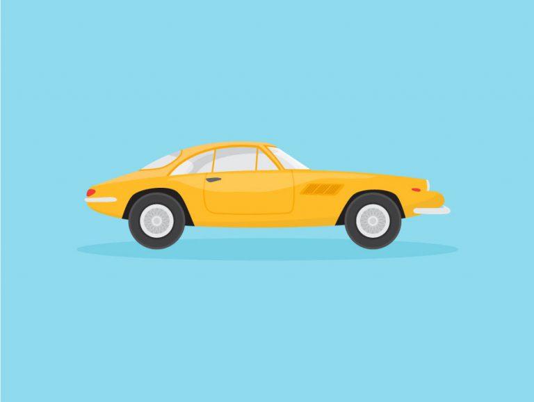 Ferrari Car Illustration Design