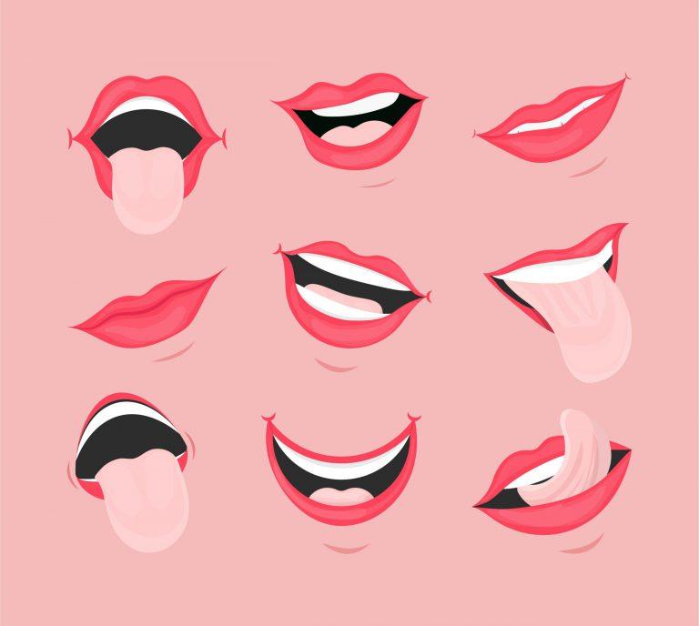 Cartoon Mouth Vector Set