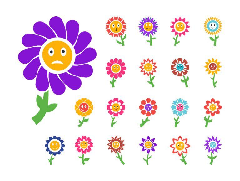Cartoon Flowers Free Icons