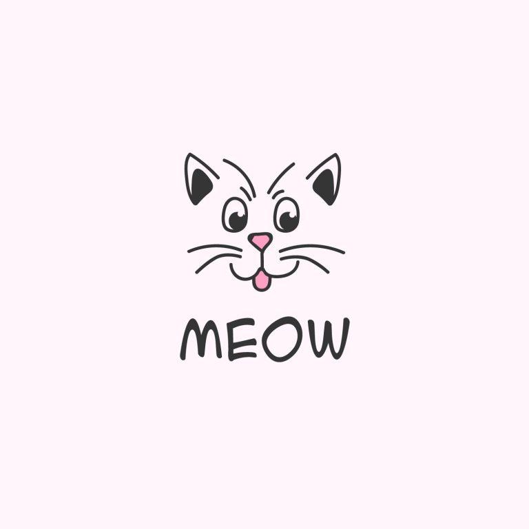 Meow Logo Vector Image