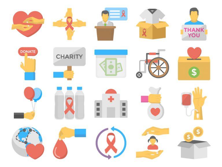 Charity Flat Icon