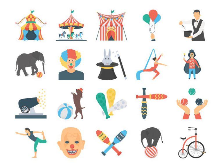 Circus Carnival Icons