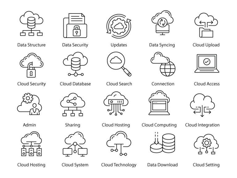 Cloud Hosting Lines Pack