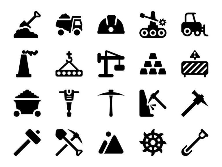 Coal Mine Icons
