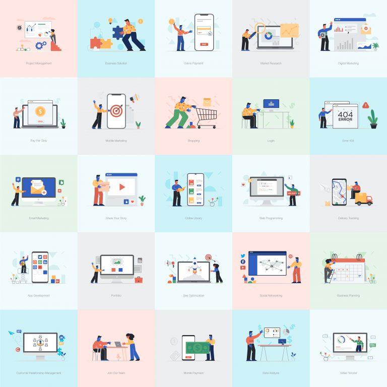 Compact of Flat Illustrations