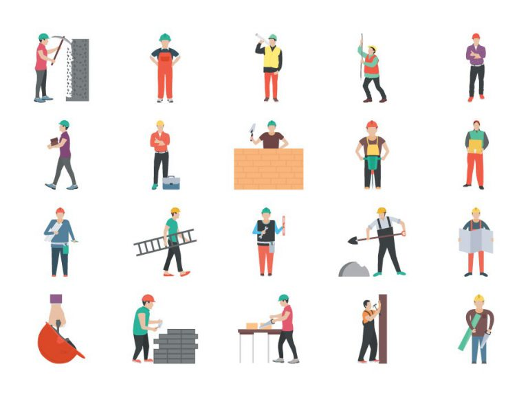 Construction Worker Characters