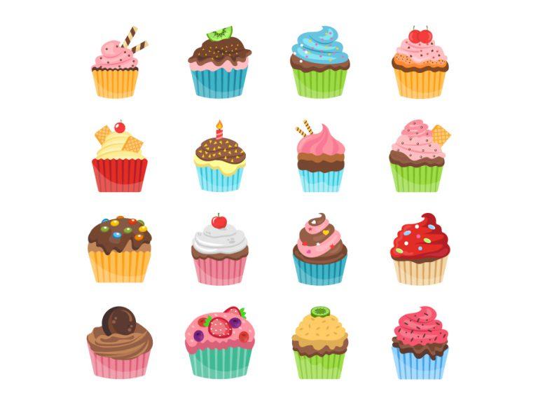 Cupcakes Vector Free