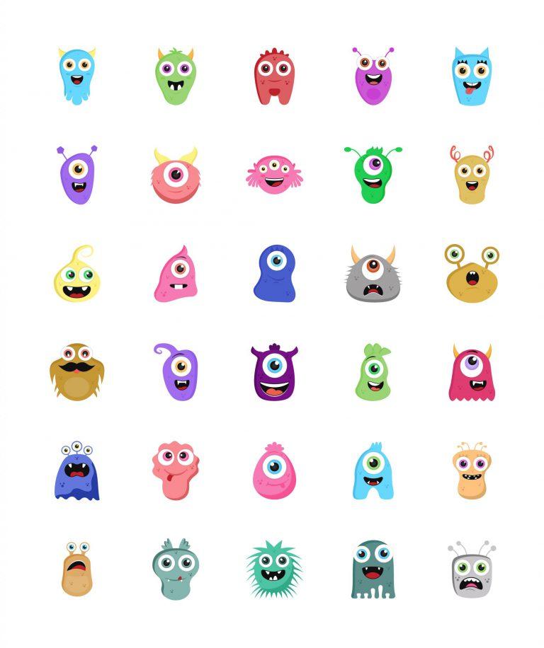 Cute Aliens Free Download Vectors