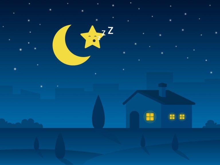 Cute Night Illustration