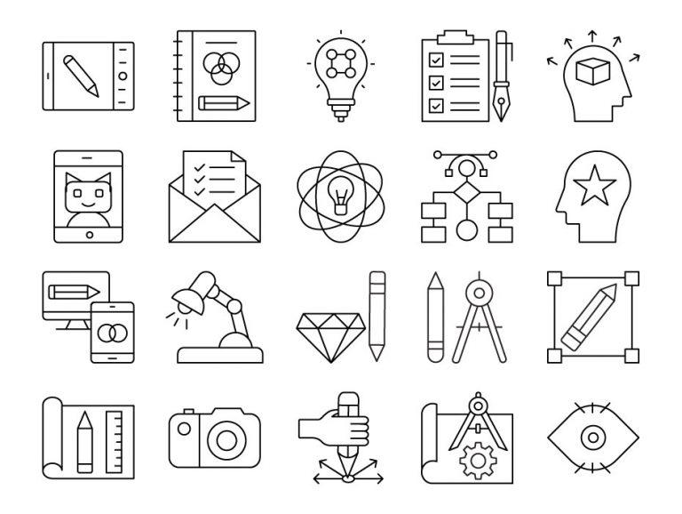 Design Thinking Icon Set