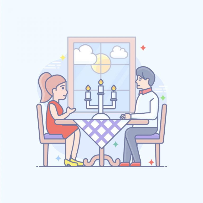 Dinner Free Vector Illustration