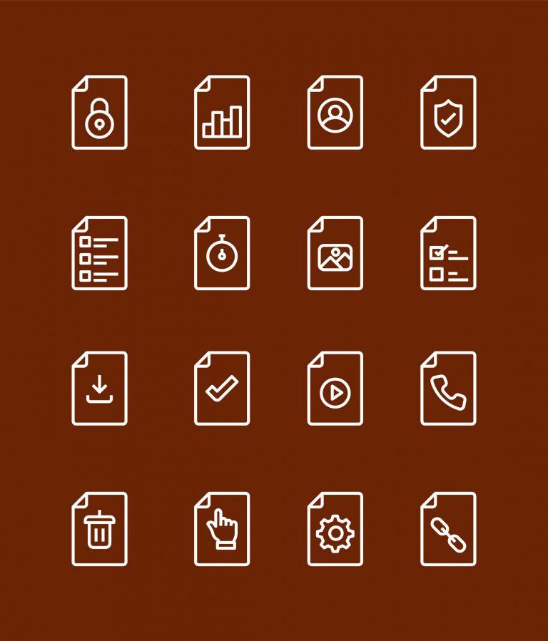 Document Icons Free Vector Art