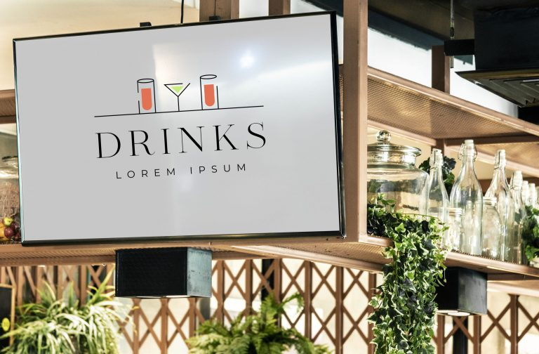 Drinks Logo Vector Image