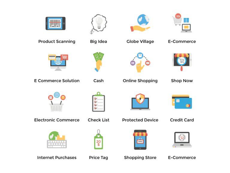 E-Commerce Flat Set