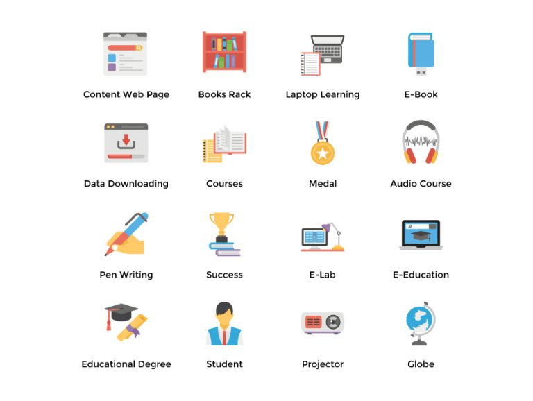 E-Learning Icons Pack