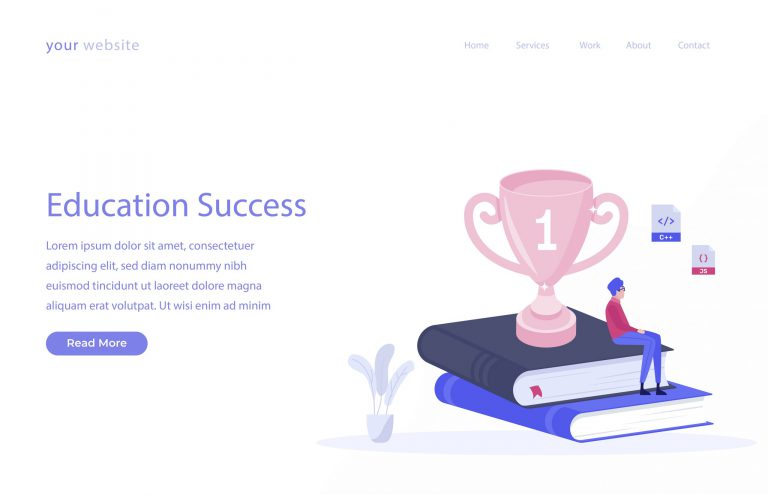 Education Success Vector Illustration
