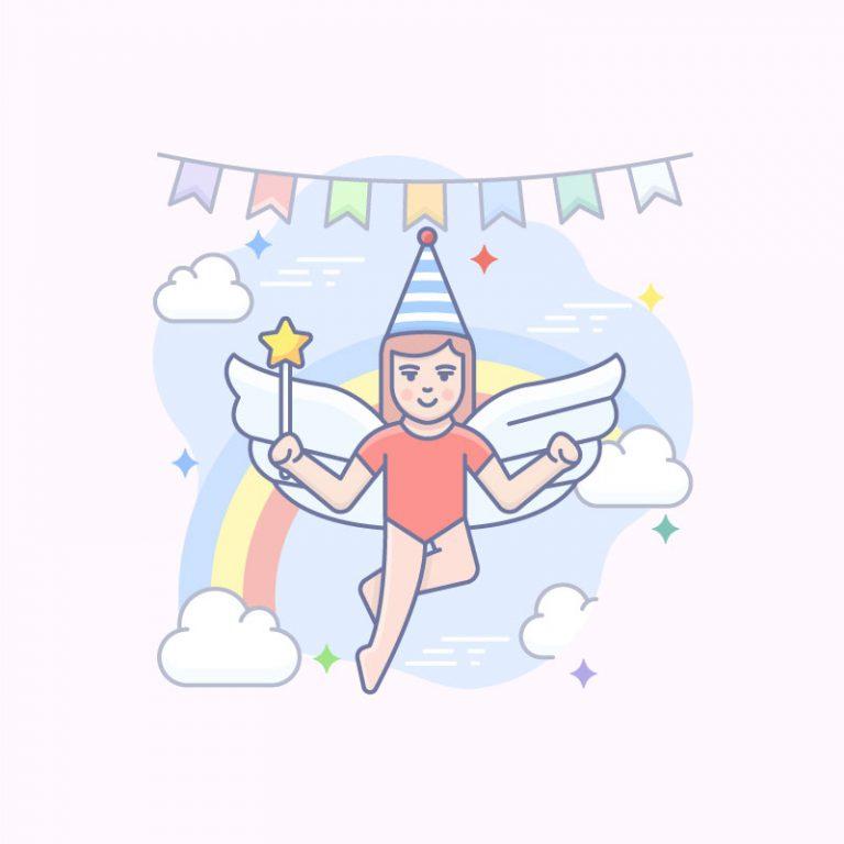 Fairy Theme Vector Illustration