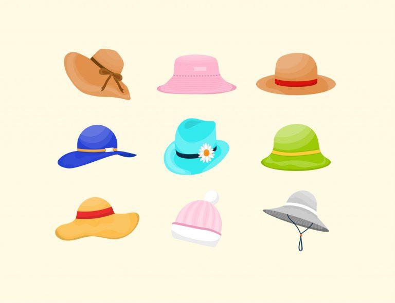 Free Summer Hats Vector