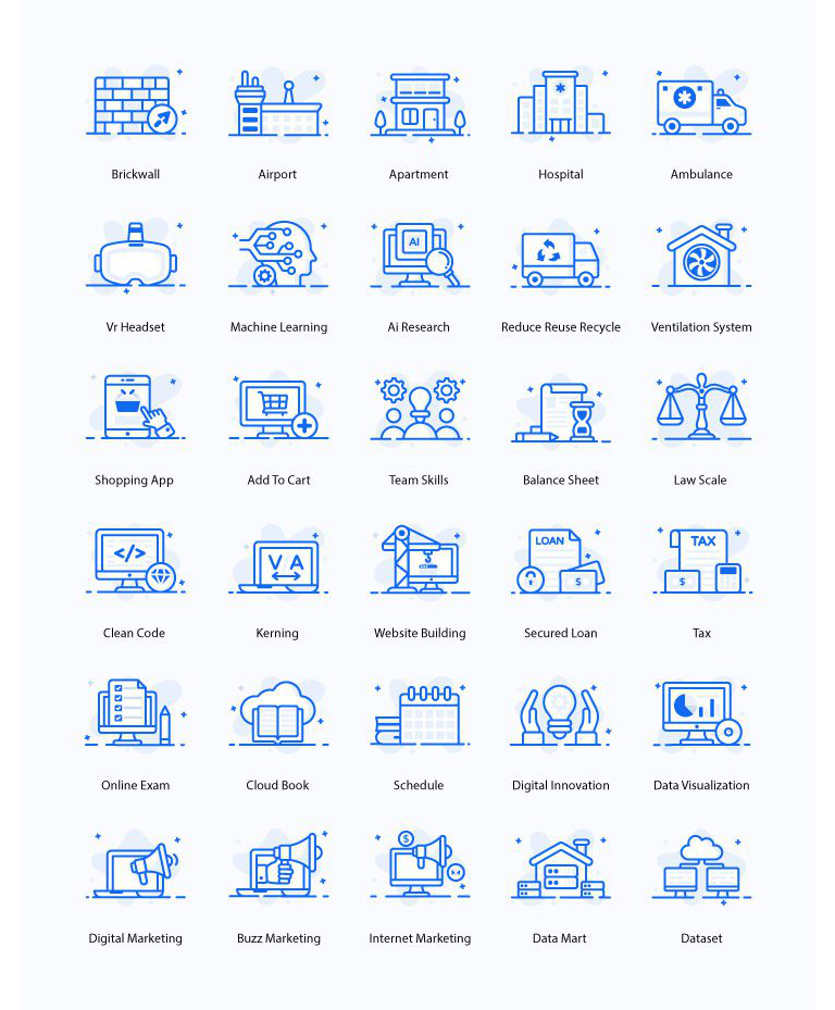 Flat Outline Icons Free Download