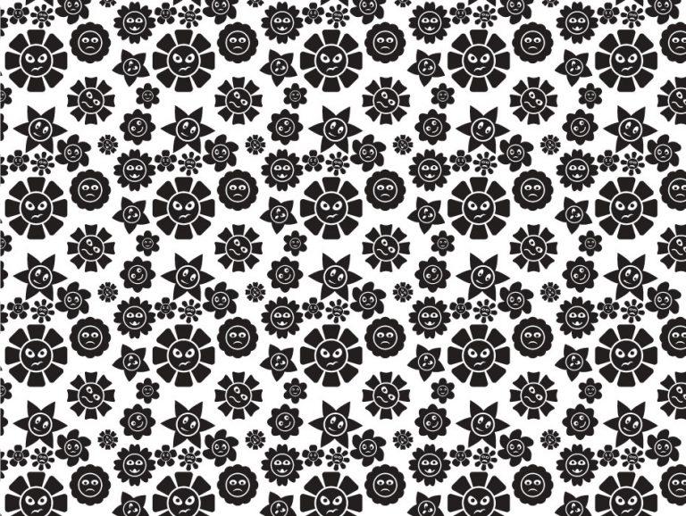 Flower Faces Pattern