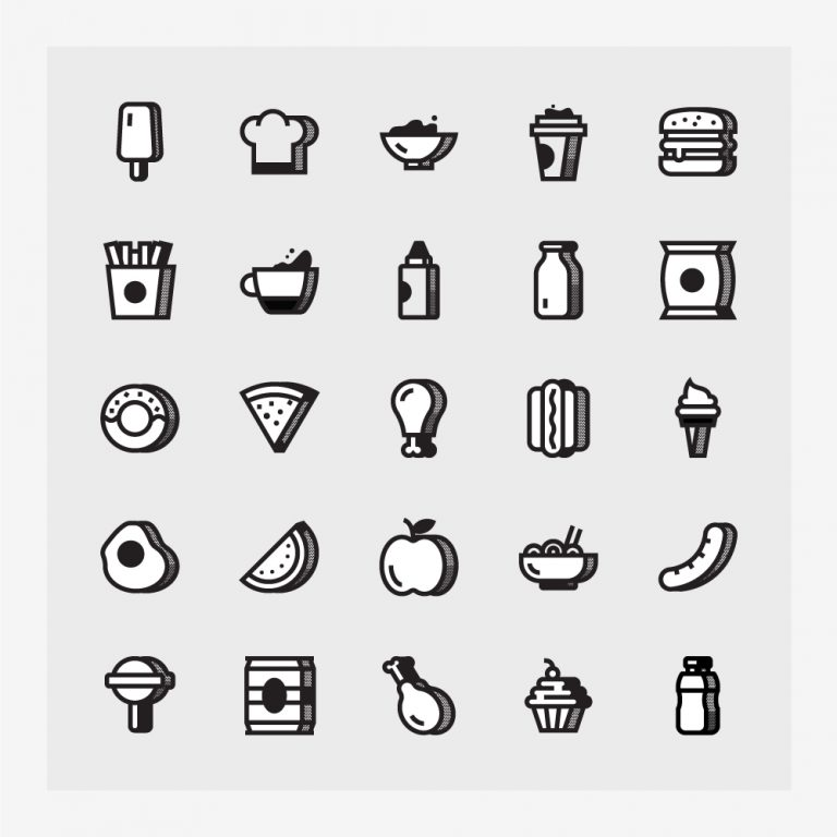 Food Icons Free Vector Art