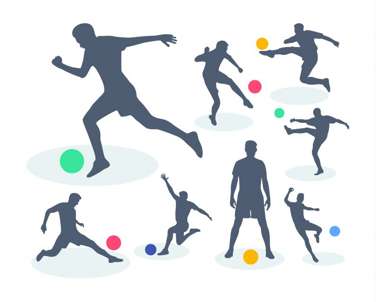 Free Vector Soccer Silhouette