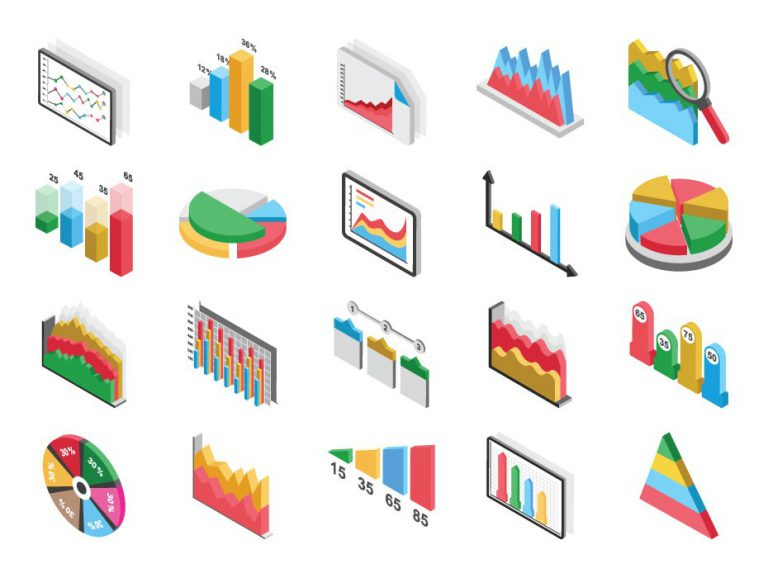 Graph Vector Icons